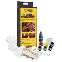 Diy kit de reparação de vinil de couro para remendo tecido e ferramentas restaurador de risco ou crack em seu sofá para estofos barco