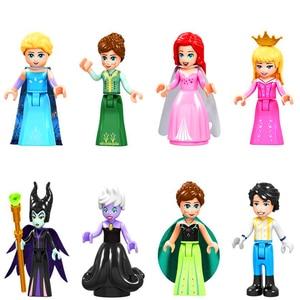 8Set Girl Princess Maleficent Ursula Anna Elsa Eric Aurora Building Block Toys Gifts For Children Constuction Technic Figure(China)