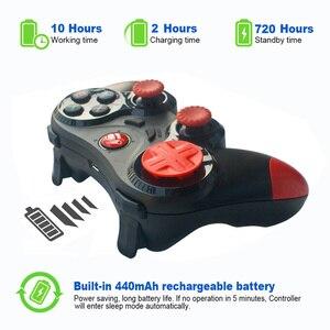 Image 4 - Bezprzewodowy Android Gamepad Joystick bezprzewodowy kontroler do gier Bluetooth kompatybilny Joystick dla Moblie Tablet z funkcją telefonu TV, pudełko uchwyt na