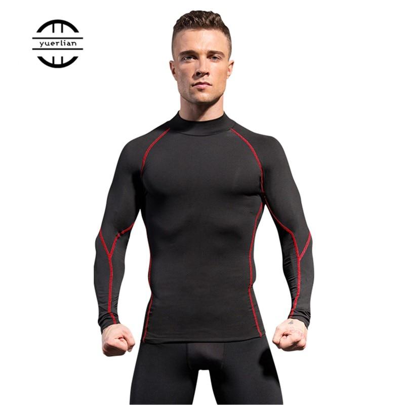 Men Sport Shirt man Gym Fitness Tight Running Compression T-shirt Basketball Jersey Sportswear Bodybuilding Gym man's T-shirt