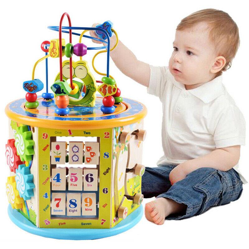 Montessori Houten Speelgoed Houten Cirkels Kraal Draad Doolhof Achtbaan Educatief Houten Puzzels Kid Speelgoed - 3