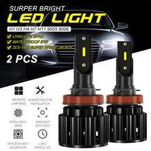 2 шт светодиодный лампы для автомобильных фар 9 30 в h1/h3/h4/h7/h11