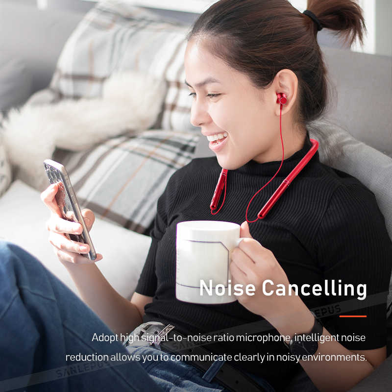 SANLEPUS zestaw słuchawkowy Bluetooth słuchawki bezprzewodowe słuchawki sportowe z zestaw słuchawkowy z mikrofonem do telefonu komórkowego iPhone Samsung Huawei LG