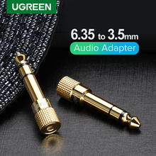 Ugreen 잭 3.5 스피커 커넥터 6.35mm 남성 3.5mm 여성 오디오 커넥터 3.5 잭 Aux 케이블 스피커 기타 잭 6.35