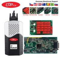 OBDII diagnostic tool CDP TCS Multidiag pro+ Bluetooth USB 2016.00 keygen V3.0 NEC relays obd2 scanner cars trucks