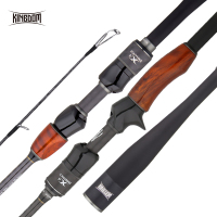 Kingdom Solo II Fishing Rods FUJI Ring and SK Reel Seat Spinning Rod High Quality wooden handle Sea and Freshwater Casting Rods
