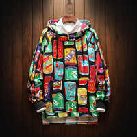 Sweat à capuche imprimé Graffiti créatif sweat à capuche hommes Hipster Punk Rock Hip Hop Streetwear Sweatshirts hauts