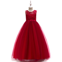 Children Evening Party Dresses Elegant Girl Princess Dress long 2019 Summer Kids Dresses For Girls Costume Wedding Dress 10T 11T