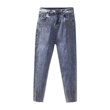 Jeans For Women Mom Jeans High Waist Elastic Plus Size Stretch Skinny Jeans Woman Washed Denim Pencil Pants Trousers M-4XL velvet stretching warm jeans woman skinny stretch denim trousers high waist jean pencil pants winter mom jeans cashmere wiccon