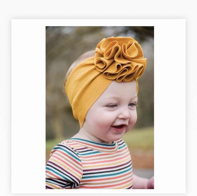 תינוק שיער אבזרים לפעוטות בנות ילד תינוק סרט טורבן פרח ראש לעטוף נסיכת אבזרים