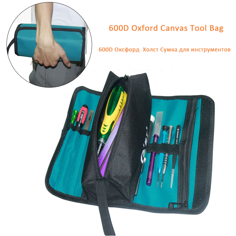 36*25cm Folding Tool Bags Multifunctional Tool Bag Case 600D Oxford Canvas Storage Organizer Holder Case Roll Storage Pocket Bag