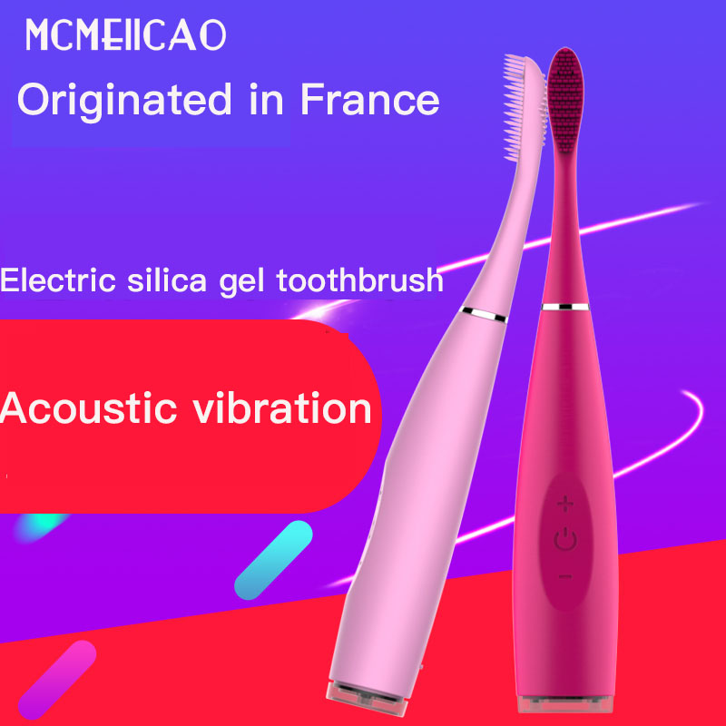Electric Toothbrush Portable USB Charging Strong Power Waterproof Sonic Wave Automotic Silicone Toothbrush Suit For Adult Child