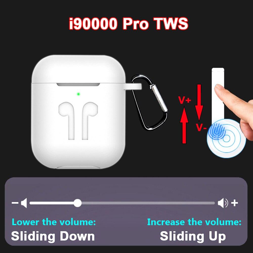 Neue i90000 Pro TWS Ari 2 Drahtlose Kopfhörer Bluetooth 5,0 Kopfhörer Schiebe Volumen Control Super Bass Ohrhörer PK i5000 i9000 TWS