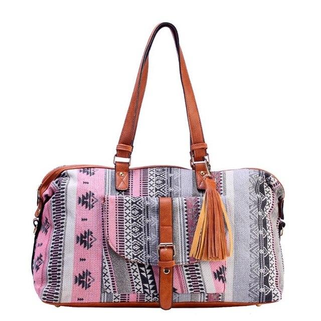 Sac de voyage Jacquard pour femmes, sac de voyage en toile haut de gamme, décontracté, sac fourre tout, cubes, bonne qualité, nouvelle collection