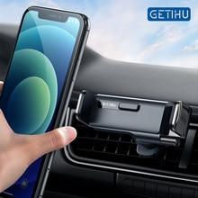 GETIHU Gravity uchwyt samochodowy na telefon Air Vent klip góra mobilny stojak na telefon Smartphone GPS wsparcie dla iPhone 12 Pro Max 8 Xiaomi