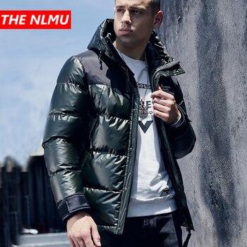 2019 Men Winter Warm Parkas Jackets Silver Coats Hip Hop Thick Hooded Parka Jacket Fashion Casual Male Streetwear Outwear WG565