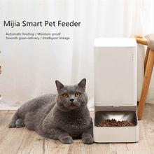 Xiaomi Mijia inteligentny automatyczny dozownik karmy dla zwierząt podajnik miska APP kontrola ziarna dostawy pojemnik inteligentne połączenie dla psa kota
