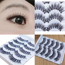 Gracious Makeup Handmade 5Pairs Natural Long False Eyelashes Extension Exquisite Advanced Artificial Fiber False Eyelash