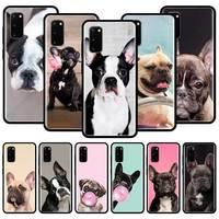 Custodia in Silicone per Samsung Galaxy S21 S20 FE 5G S20 Ultra S10e S10 S8 S9 Plus S7 Cover posteriore morbida Funda Bulldog francese cane
