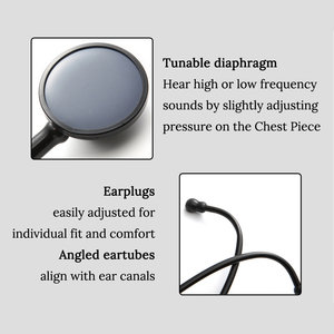 Image 4 - Professional Heart Lung Cardiology Stethoscope Medical Single Head Doctor Stethoscope Doctor Student Medical Equipment Device