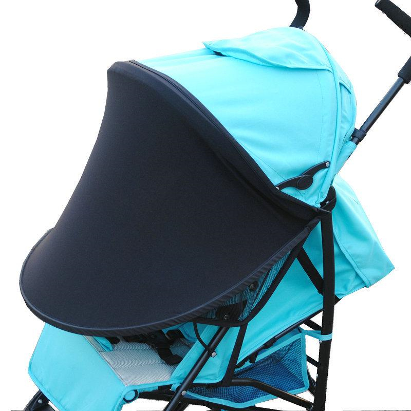 Summer Sun Shade For Baby Carriage Stroller Cloth  Windproof Umbrella Black  Avoid Ultraviolet Rays Sunscreen For Baby 1 Piece