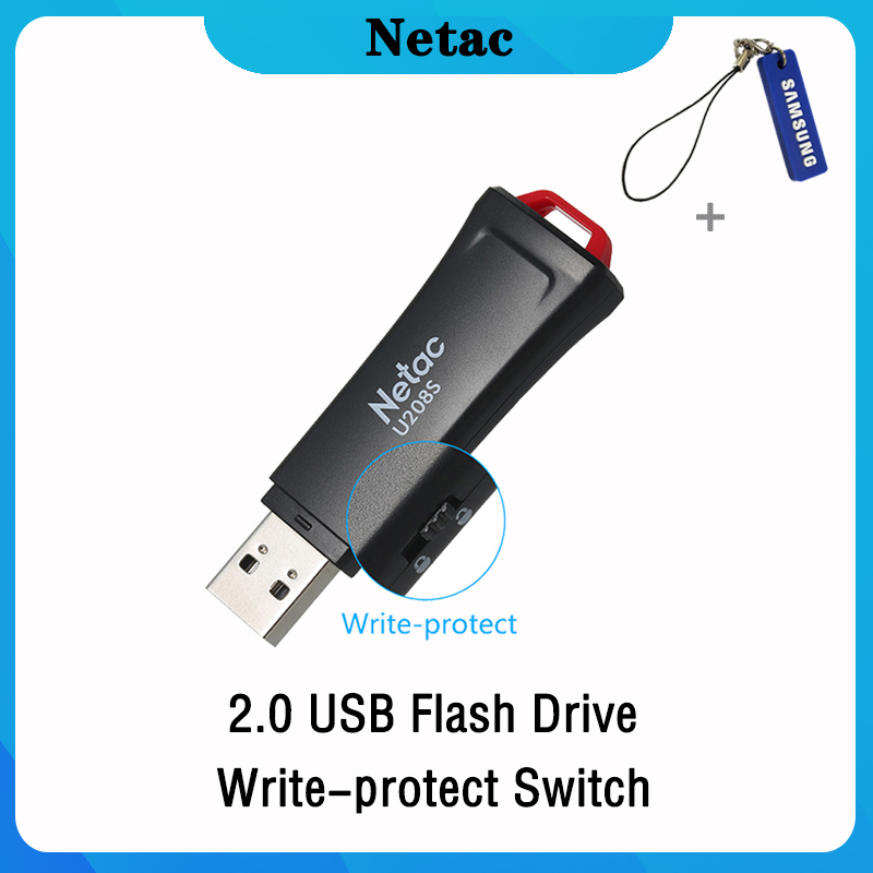 Netac USB Flash Drive 32 16 GB Write Protect Encrypted Pendrive 32gb 16gb Pen Drive 2.0 USB Stick Disk On Key Memory For Phone