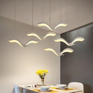 Image 1 - Luminária suspensa com led criatividade moderna, lustre para sala de jantar, cozinha, mesa de suspensão, luminária suspensa