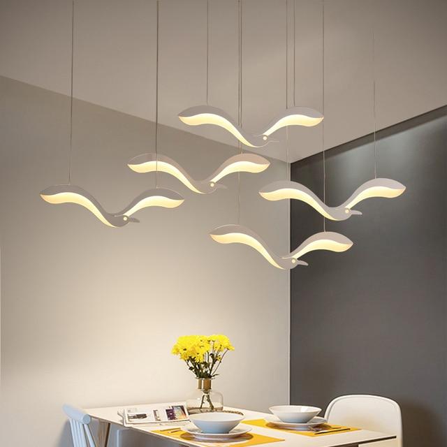Luminária suspensa com led criatividade moderna, lustre para sala de jantar, cozinha, mesa de suspensão, luminária suspensa