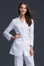 Autumn and winter thick body female doctor nurse repair anti-wrinkle white coat oral clinic hospital lead fashion