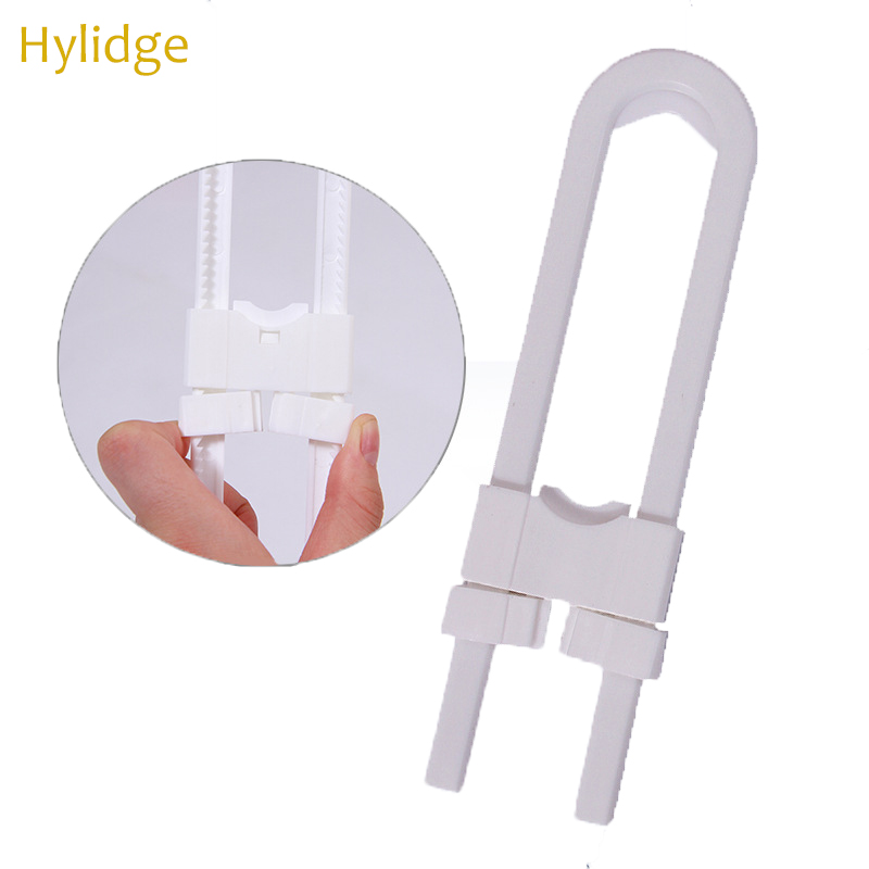 Hylidge Baby Safety Lock U Shape Kids Baby Cabinet Locks Child Protection Cabinet Security Door Locking ABS Plastic Non-Toxic