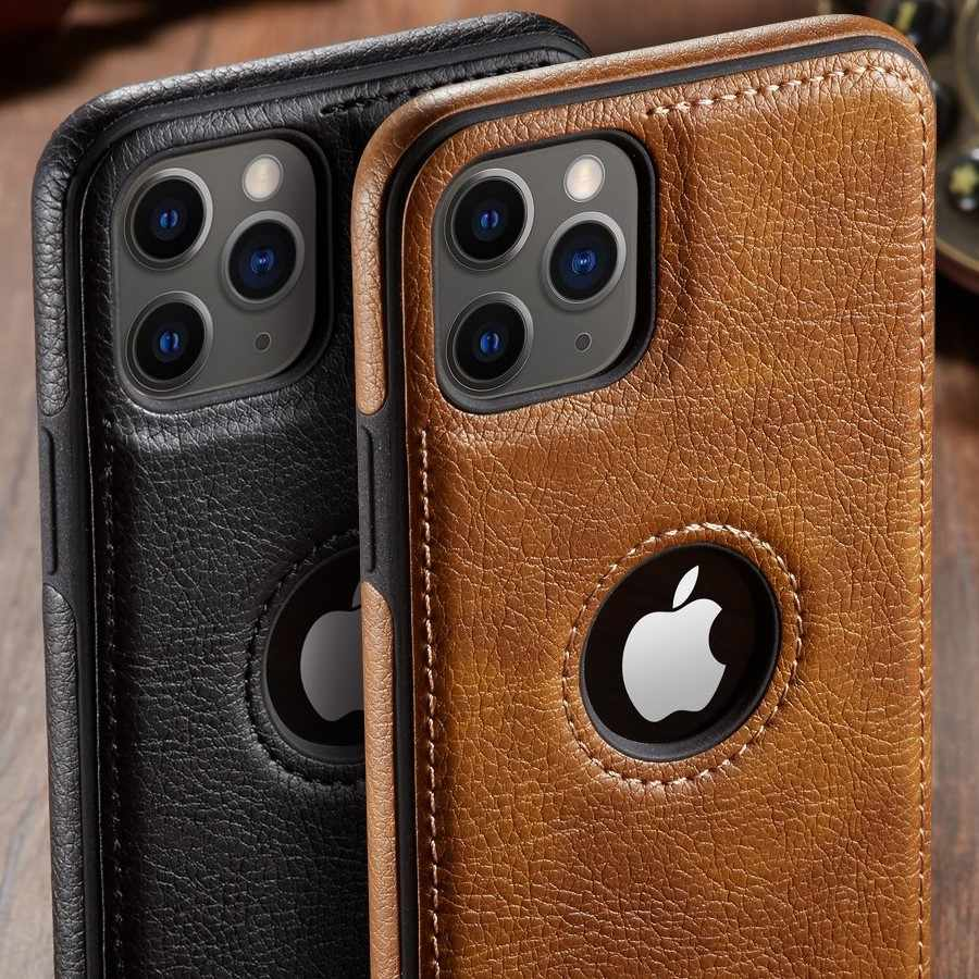 For iPhone 11 11 Pro 11 Pro Max Case Luxury Vintage PU Leather Back Thin Case  Cover for iphone XS Max XR X 8 7 6 6S Plus Case|Fitted Cases| - AliExpress