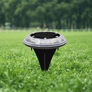 Zewnętrzna wodoodporna Mini krajobrazowa lampa trawnikowa Home Garden 12 led ABS łatwa instalacja podjazd na dziedzińcu trwałe oświetlenie słoneczne