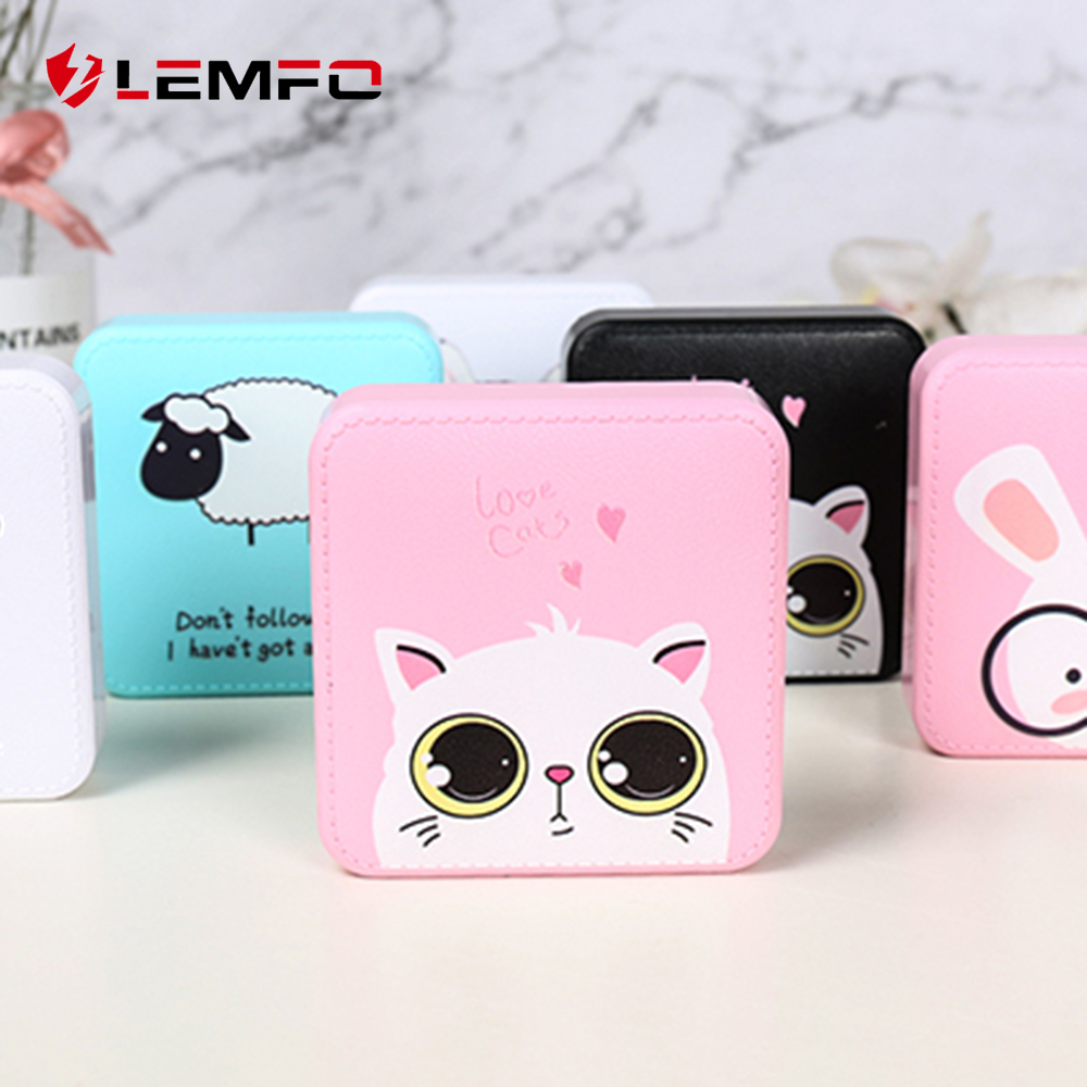 LEMFO Mini Power Bank 10000mah Cute Powerbank 10000 Mah Portable Charger Trust Bank External Battery For Xiaomi Iphone-in Power Bank from Cellphones & Telecommunications