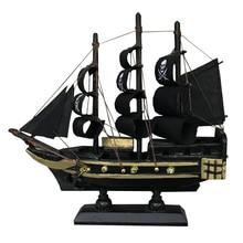 LUCKK Hot Sale Caribbean Corsair Sailboat 3D Wooden Assembly Zeilboot Model Black Corsair Decoratie Sailing Boats