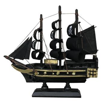 LUCKK Hot Sale Caribbean Corsair Sailboat 3D Wooden Assembly Zeilboot Model Black Decoratie Sailing Boats Toys Gifts - discount item  50% OFF Home Decor