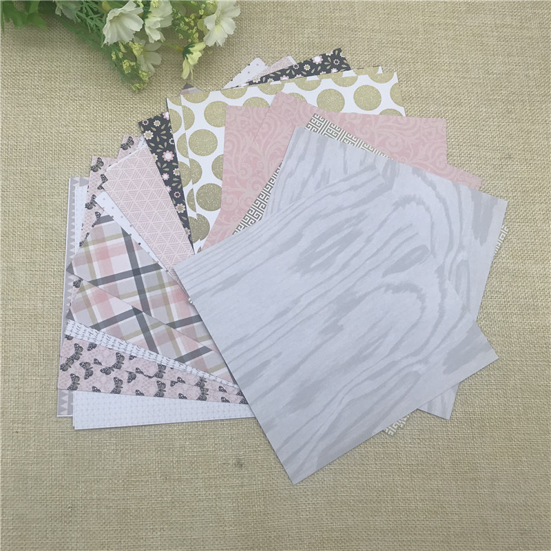 """24 sheet 6""""X6"""" Butterfly the flower patterned paper Scrapbooking paper pack handmade craft paper craft Background pad 4"""