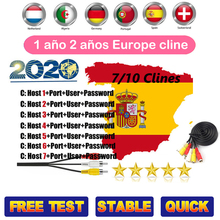 DVB-S2 Receptor Cccam 7/10 clines for 1 year Spain Europe cl