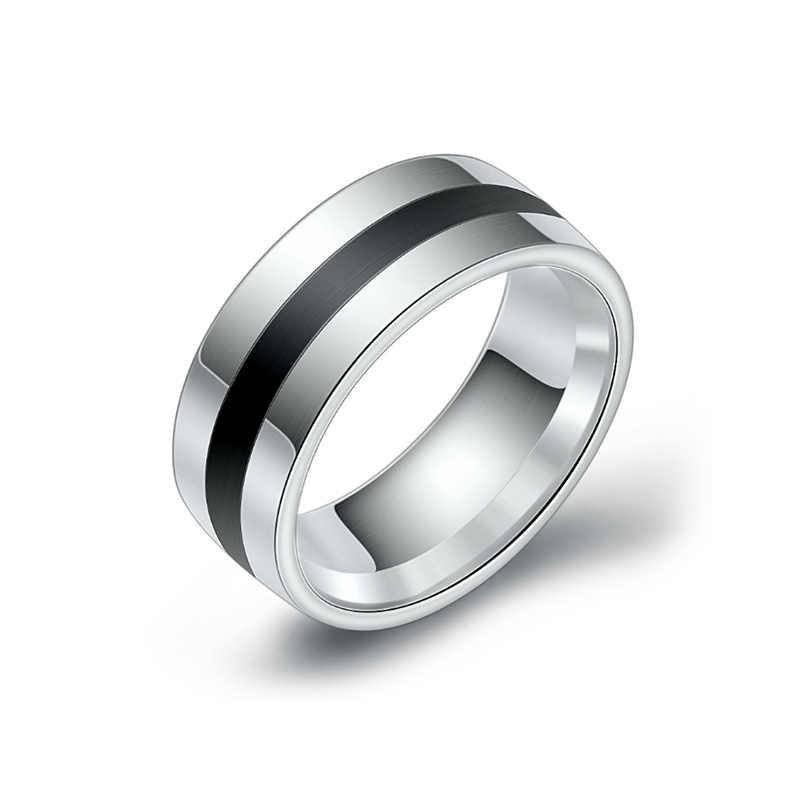 Ringen Sieraden Mannen En Vrouwen Rvs Zilver Luxe Eenvoudige Belofte Engagement Ringen Fashion Anniversary Geschenken Voor Paar