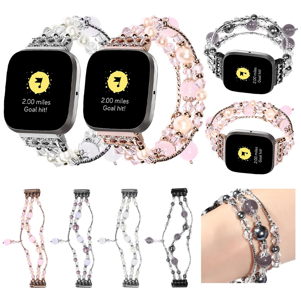 Watch Strap Wristband Replacement Deluxe Agate Strap For Fitbit Versa 2 Smart Watch Bracelet Watch Strap Smart Watch Accessory