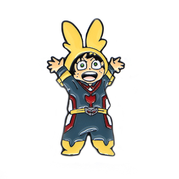 My Hero Academia Enamel Pins Lapel/Hat Badge All Might Jacket Oil Drop Brooches Collar Corsage Jewelry Scarf Buckle S290 funmor korean round lady brooches simulated pearl metal corsage circle scarf decoration hair sweater cloak buckle pins jewelry