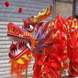 Image 2 - למבוגרים נגן גודל 4 משי frabic הסיני DRAGON ריקוד מקורי הדרקון הסיני עממי פסטיבל חגיגה הדרקון תלבושות