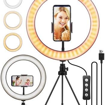 Amazon sprzedał 10 calowy ekran na żywo kotwica na żywo internetowi celebryci uroda makijaż na żywo nagrywanie wideo światło tanie i dobre opinie ODIFF Misja Żarówki halogenowe Ręcznie dziane 110 v Lampy podłogowe Metrów 5-10square 6-10 w Dół Foyer Metal Pilot zdalnego sterowania