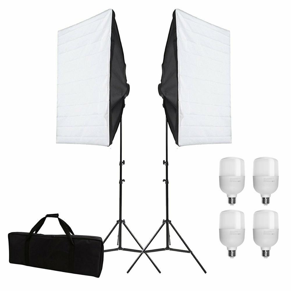 ZUOCHEN 6x25 Вт Светодиодный светильник для фотостудии комплект 50x70 см софтбокс светильник ing набор софтбоксов стрелы кронштейн светильник для ... - 2