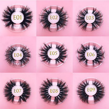 25mm 3D MIKIWI luxury real mink false eyelashes full strip natural thick criss-cross lash 25mm long fluffy dramatic mink lashes