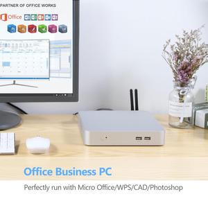 Мини ПК Intel Core i5 7200U 3317U i7 4500U Windows 10 USB * 6 Мини Компьютерный кулер Настольный мини-компьютер WIFI HDMI HD Graphics 4400