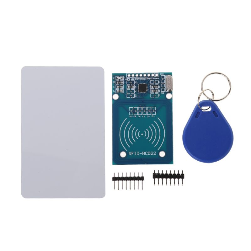 RFID Kit RC522 Reader Chip Card NFC Reader Sensor Module Key Ring Standard S50 Blank Card/Shaped Card Curved /Straight Row Pin