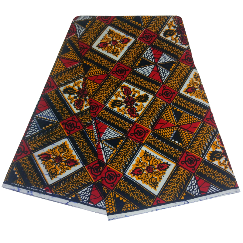 African Wax Fabric Ankara Cotton Fabric High Quality Material 6yards African Ankar Adresses Fabric