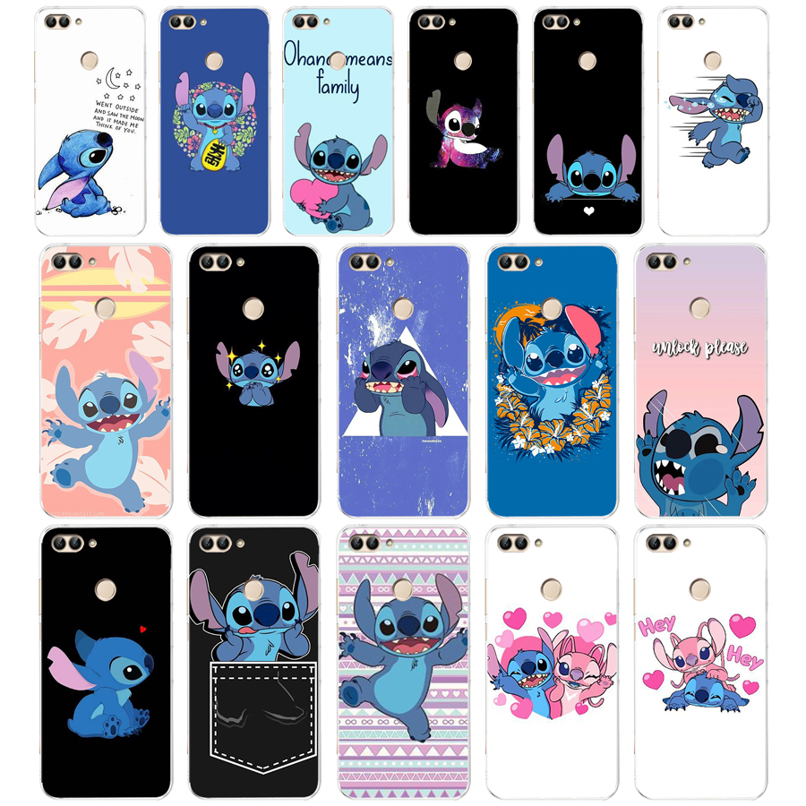 69AA Stitch Funny Cute Cartoon Soft TPU <font><b>Case</b></font> <font><b>Cover</b></font> <font><b>For</b></font> <font><b>Huawei</b></font> Honor P Smart <font><b>2018</b></font> 2019 <font><b>Y6</b></font> <font><b>Prime</b></font> <font><b>2018</b></font> Nova 2i 3i View 10 image