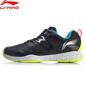 Мужские тренировочные туфли для бадминтона Li-Ning, дышащая светильник Кая спортивная обувь с устойчивой поддержкой, кроссовки AYTQ003 XYY154