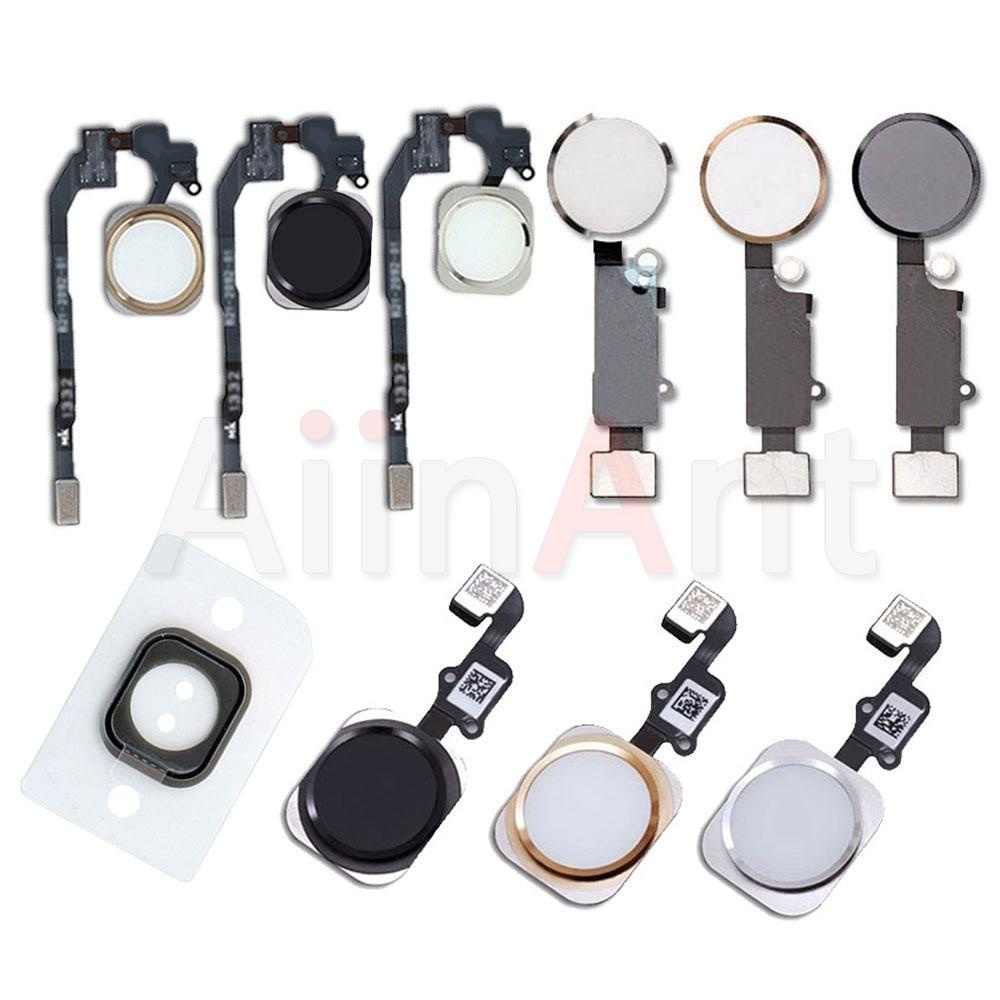 Aiinant Original Home Button Flex For IPhone 5s SE 6 6s 7 8 Plus 8Plus 7Plus Return Back Home Flex Cable Function Assembly